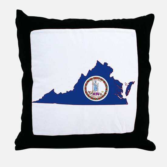 Virginia Flag Throw Pillow