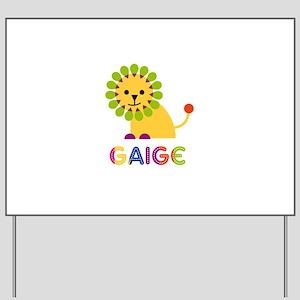 Gaige Loves Lions Yard Sign