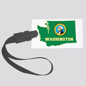 Washington Flag Large Luggage Tag