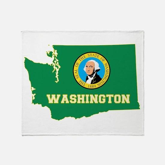 Washington Flag Throw Blanket