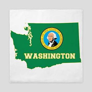 Washington Flag Queen Duvet
