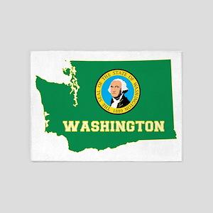 Washington Flag 5'x7'Area Rug