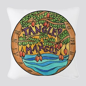 Tangled Mangos Woven Throw Pillow