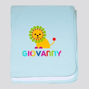 Giovanny Loves Lions baby blanket