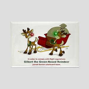 Reindeer Rectangle Magnet