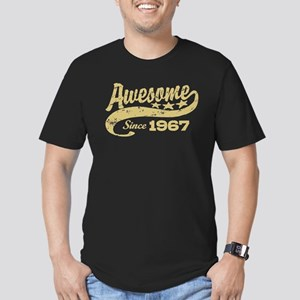 Awesome Since 1967 Men's Fitted T-Shirt (dark)