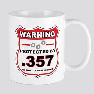 protected by 357 shield Mug