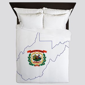West Virginia Flag Queen Duvet
