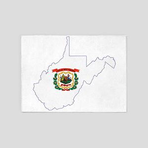 West Virginia Flag 5'x7'Area Rug