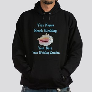 Custom Beach Wedding Hoodie