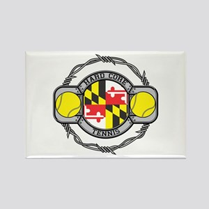 Maryland Tennis Rectangle Magnet