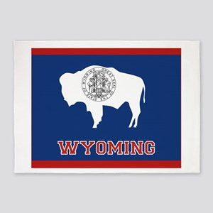 Wyoming Flag 5'x7'Area Rug