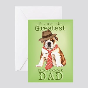 Bulldog Dad Greeting Card