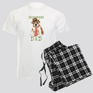 Bulldog Dad Men's Light Pajamas
