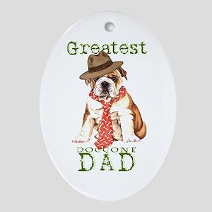 Bulldog Dad Ornament (Oval)