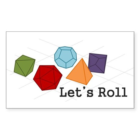 Let's Roll Sticker (Rectangle)