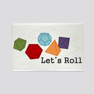 Let's Roll Rectangle Magnet