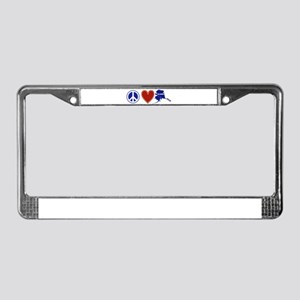 Peace Love Alaska License Plate Frame