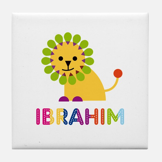 Ibrahim Loves Lions Tile Coaster