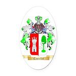 Castellet Oval Car Magnet