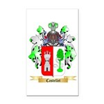 Castellet Rectangle Car Magnet