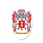 Castellano Oval Car Magnet