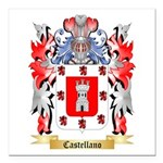 Castellano Square Car Magnet 3