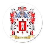 Castellano Round Car Magnet