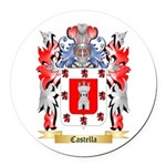 Castella Round Car Magnet