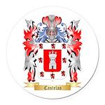 Castelao Round Car Magnet