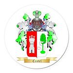 Castel Round Car Magnet
