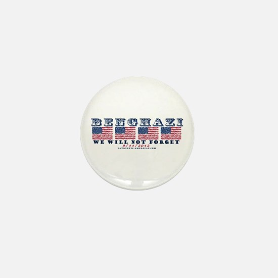 Benghazi - Never Forget (with Date) Mini Button