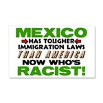 """""""Now Who's Racist?"""" Car Magnet 20 x 12"""