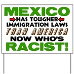 """""""Now Who's Racist?"""" Yard Sign"""