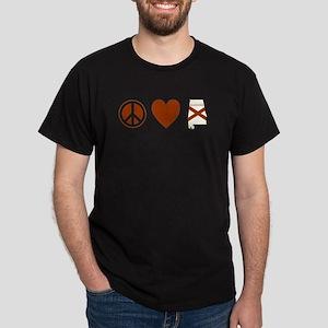Peace Love Alabama Dark T-Shirt