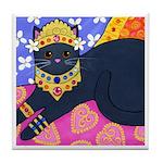 Gray CAT From Bali ART Tile