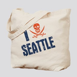 I Jolly Roger Seattle Tote Bag