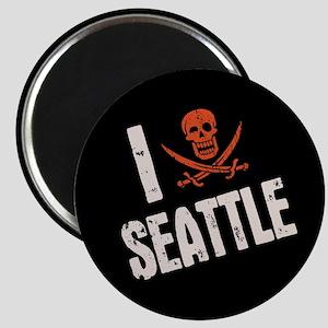 I Jolly Roger Seattle Magnet