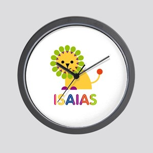 Isaias Loves Lions Wall Clock