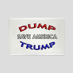 DUMP TRUMP - SAVE AMERICA! Rectangle Magnet