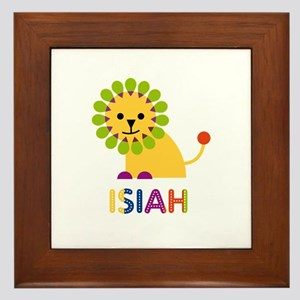 Isiah Loves Lions Framed Tile