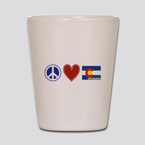 Peace Love Colorado Shot Glass