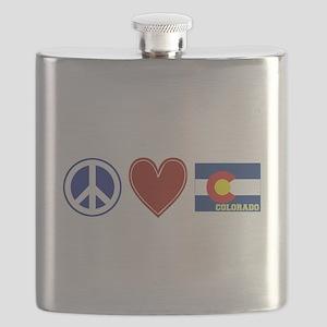 Peace Love Colorado Flask