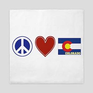 Peace Love Colorado Queen Duvet