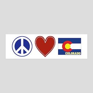 Peace Love Colorado 36x11 Wall Decal