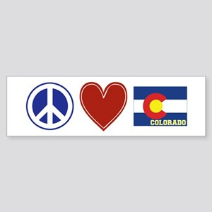 Peace Love Colorado Sticker (Bumper)