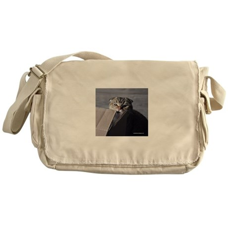 Noodles the cat - moving box Messenger Bag