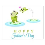 Hoppy Fathers day frogs Poster Design