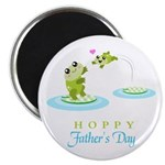 Hoppy Fathers day frogs Magnet