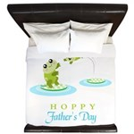 Hoppy Fathers day frogs King Duvet